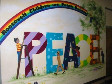 Peacebuilders what we do featured peacebuilders sites for Elementary school mural
